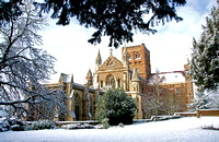 St. Alban's Cathedral in the Snow